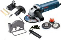 Angle grinders, accessories