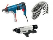 Collated screw guns, screws and accessories