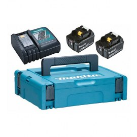 Battery Makita 197624-2; 18 V; 2x5,0 Ah; Li-ion + Charger DC18RC + Suitcase