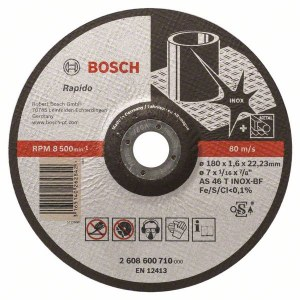 Abrasive cutting disc Bosch AS 46 T INOX BF; 180x1,6 mm