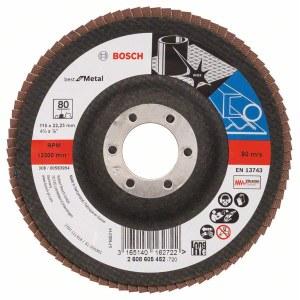 Fan-shaped grinding wheel Bosch Best for Metal; 115 mm