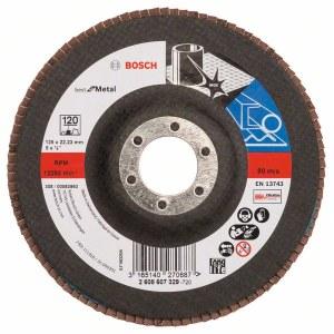 Fan-shaped grinding wheel Bosch Best for Metal; 125 mm