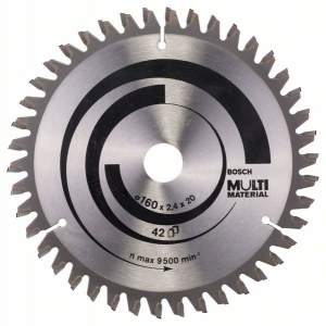 Sawing disc for wood Bosch MULTI MATERIAL; 160x2,4x20,0 mm; Z42; -5°