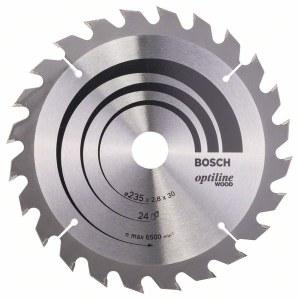 Sawing disc Bosch OPTILINE WOOD; 235x2,8x30,0 mm; Z24; 15°