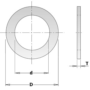 Reduction ring CMT 299.228.00; 2x25,0x30 mm
