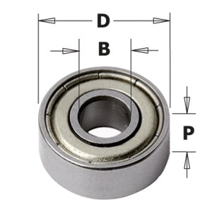Ball bearing guide CMT 791.035.00; 6,35x3,17x2,8 mm