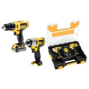 Tool set DeWalt DCK211D2T (DCD710 + DCF815); 10,8 V; 2x2,0 Ah accu.