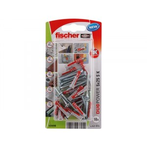 Pin with screw Fisher S K NV; 8x40 mm; 8 units