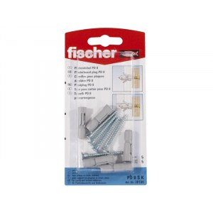 Self screwing screw with pin Fischer PD 8 S; 5 units
