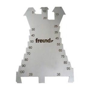 Marking plate / cutter Freund; 5-100 mm