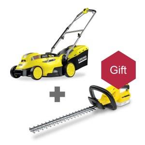 Lawn Mower Karcher LMO 18-36; 18 V; 1x5,0 Ah + Karcher HGE 18-45; 18 V; 45 cm length; cordless