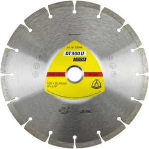 Diamond cutting disc for dry cutting Klingspor DT 300 U Extra; 230x2,3x22,23 mm