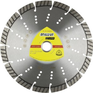 Diamond cutting disc for dry cutting Klingspor DT 612 UT Supra; 180x2,6x22,23 mm