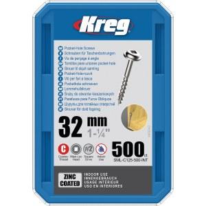 Wood screw Kreg SML-C125; Maxi-Loc; 1,25''; 32 mm; 500 pcs .; large thread