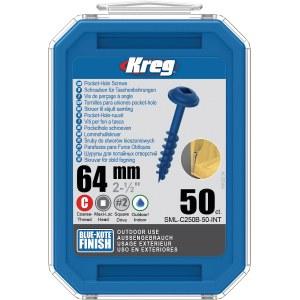 Wood screw Kreg SML-C250B; Maxi-Loc; 2,50''; 64 mm; 50 pcs .; blue