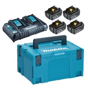Accessory set Makita Powerpack; 18V; 4x6,0 Ah + DC18RD