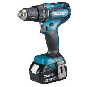 Impact drill / cordless drill Makita DHP485RTJ; 18 V; 2x5,0 Ah accu.