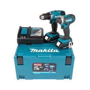 Tool set Makita DLX2141AJ (DDF453+DTD152); 18 V; 2x2,0 Ah accu.