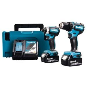 Tool set Makita DLX2289TJ (DDF485+DTD153); 18 V; 2x5,0 Ah accu.
