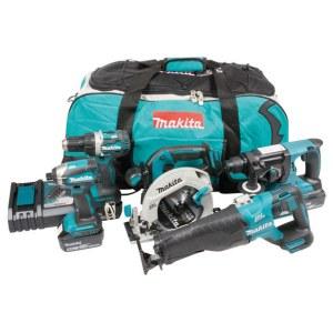 Tool set Makita DLX5032T (DDF484+DTD153+DHS680+DJR187+DHR242); 18 V; 3x5,0 Ah accu.