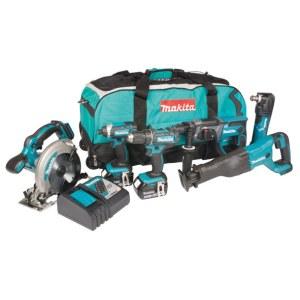 Tool set Makita DLX6038T (DDF482+DTD152+DHR202+DSS610+DJR186+DTM51);18 V; 3x5,0 Ah accu.