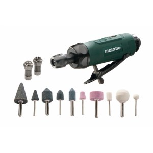 Pneumatic die grinder Metabo DG 25 Set + Accessories