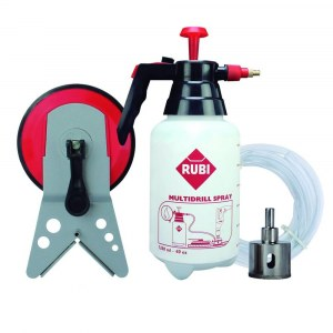 Set for wet drilling in ceramic and stoneware tiles Rubi EASYGRES; 35 mm; with accessories