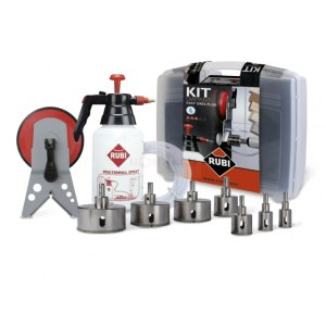 Set for wet drilling in ceramic and stoneware tiles Rubi Easygres Plus