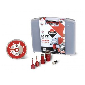 Set for drilling in ceramic and stoneware tiles Rubi 68923; 4 units