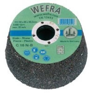 Cup wheel Wefra; Ø90-110 mm; C 16 N; P16