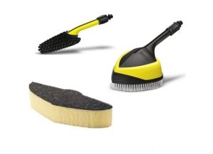Brushes and cleaning sponges for high pressure cleaners